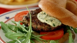 New York pesto burger