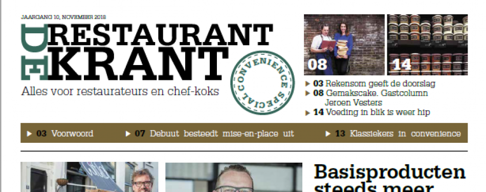 Download nu de convenience-uitgave van De RestaurantKrant<